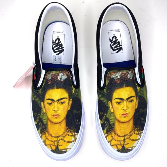 Frida Kahlo Vans M9w5 Black Slip Ons